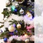 Nous avons décoré notre sapin : une déco de Noël en bleu et blanc
