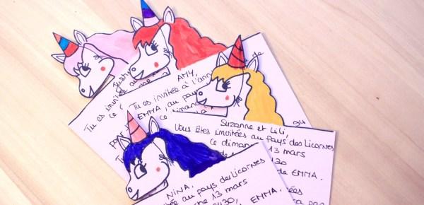 L'invitation de l'anniversaire Licorne d'Emma {Diy}