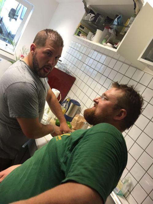 Pierre und Ivan ein echtes Dreamteam. Mit den Jungs läufts auch in der Küche