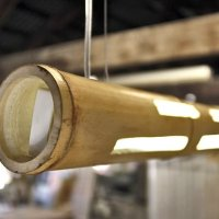Bamboo Light: a bamboo cane ceiling lamp by Transfodesign