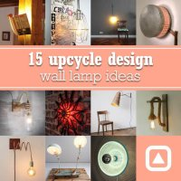 15 upcycle design wall lamp ideas