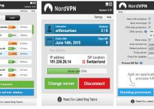 Nord VPN Setting and Interface