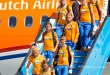 Olympische medaillewinnaars geland op Schiphol | Foto's