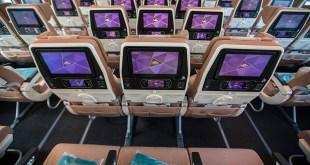 Economy class in de 787 van Etihad