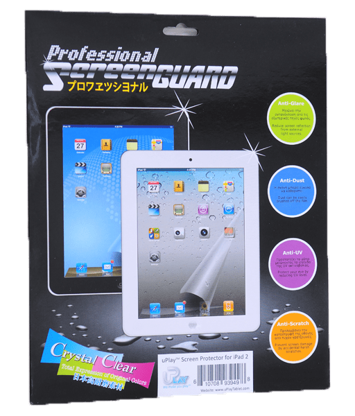 uPlay(TM) Screen Protector for iPad 2 package