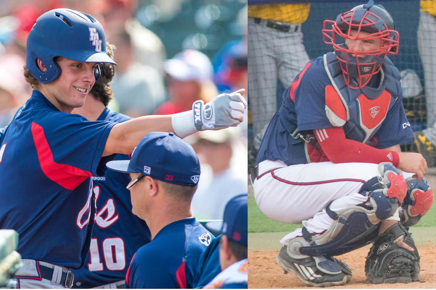 Tyler Frank versus Gunnar Lambert: comparing the numbers behind FAU baseball's catching platoon