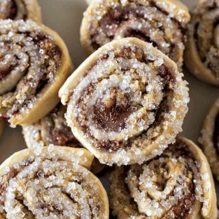 Raspberry Pinwheel Cookies - Christmas in July