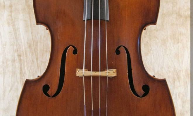 SOLD: Wilfer Fully Carved Double Bass c1975