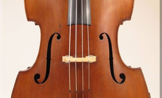 SOLD: Bohemian Fully Carved Double Bass c1920s