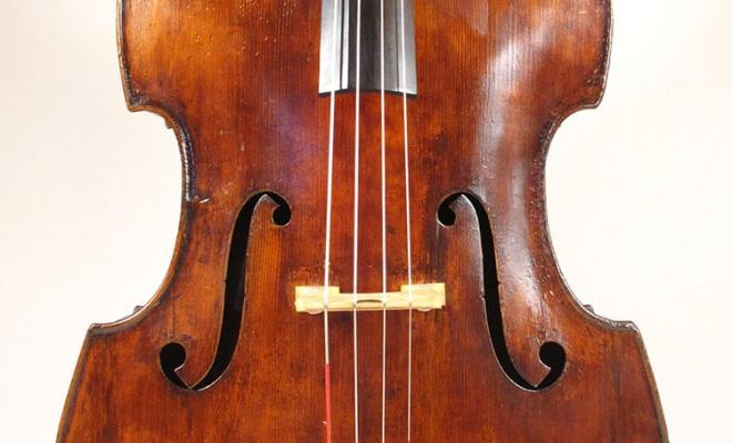 John Juzek 1950s Prague Label Double Bass