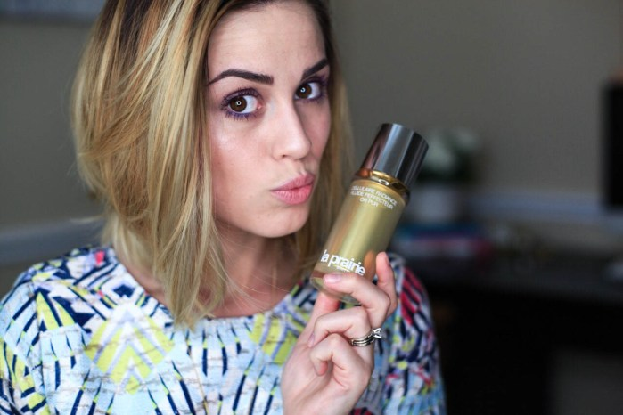 5 Minute Makeup with La Prairie Cellular Radiance Perfecting Fluide Pure Gold