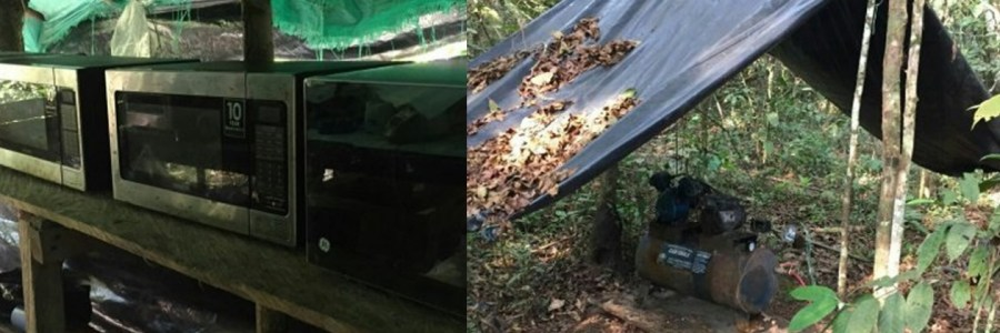 """Destruyen en Antioquia """"megalaboratorio"""" de la banda criminal Clan del Golfo"""