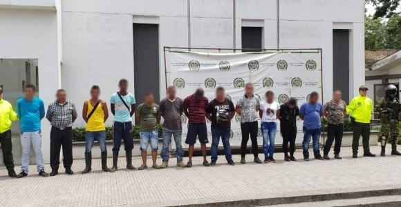 Redada contra el Clan del Golfo deja 15 capturados