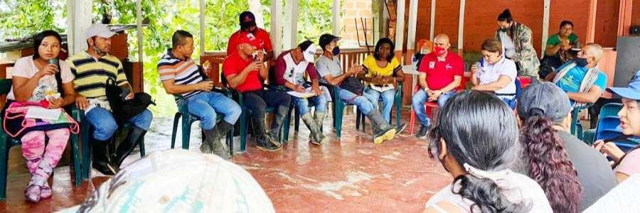 Alcaldía de Carepa  trabaja  con las comunidades  de la parte alta