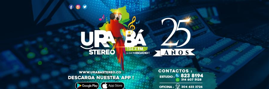 BANNER 25 AÑOS URABA STEREO