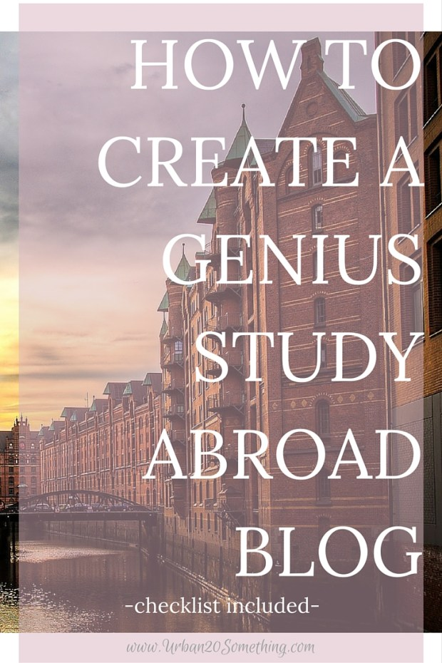 If you're going to study abroad, you need a study abroad blog. Here is your guide to making one that isn't just fun, but that can boost your academic and professional future! Free blog creation resources included.