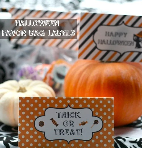 Free Halloween Printable: Favor Bag Labels