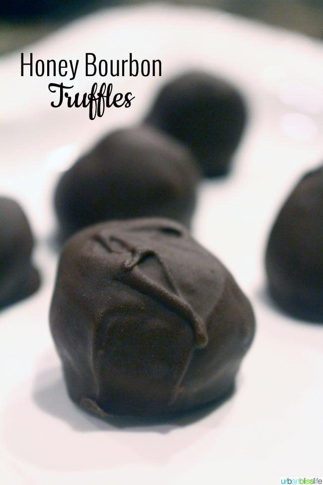 Food Bliss] Honey Bourbon Truffles | Urban Bliss Life