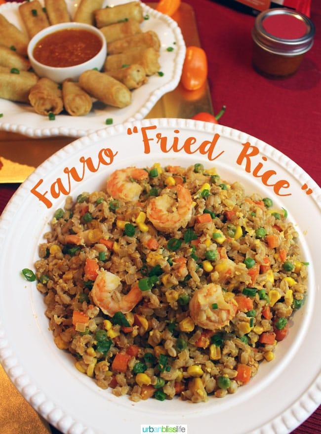 "Food Bliss: Farro ""Fried Rice"""