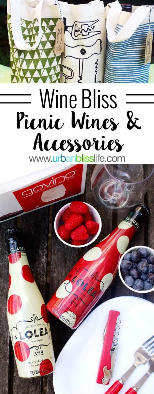 Wine Bliss: Picnic wines and accessories