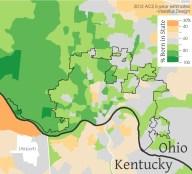 Cincinnati Nativity Rating (Map by Nate Wessel for UrbanCincy)