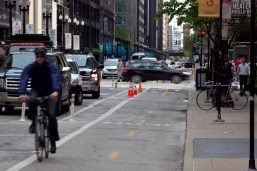 Dearborn Street Protected Bike Lane 1