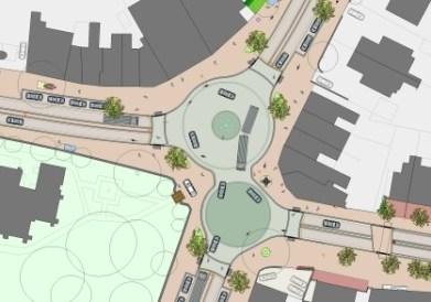 Main Intersection at Poynton, UK