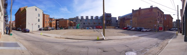 This parking lot will be replaced by a new office building as part of Mercer Commons Phase IV.