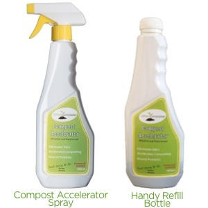 Compost Accelerator Bokashi Spray for the Urban Composter Bucket and Urban Composter City, comes in a handy 500mL refill bottle