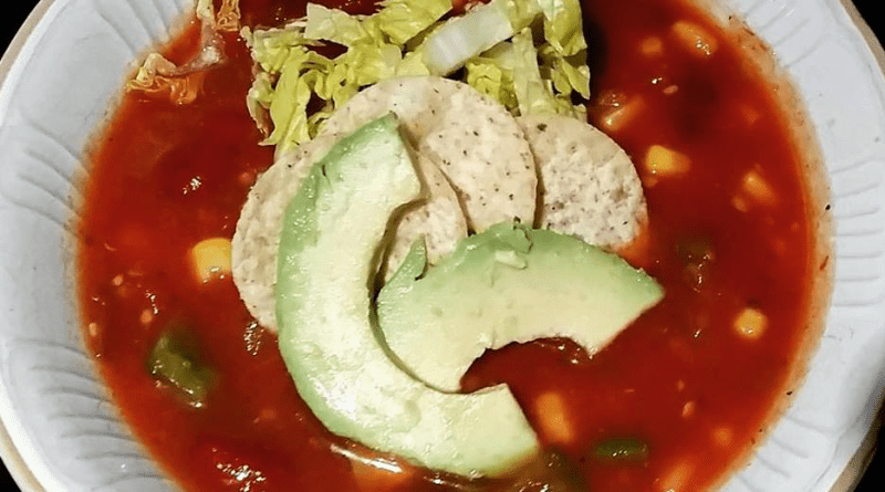 Easy vegan taco soup