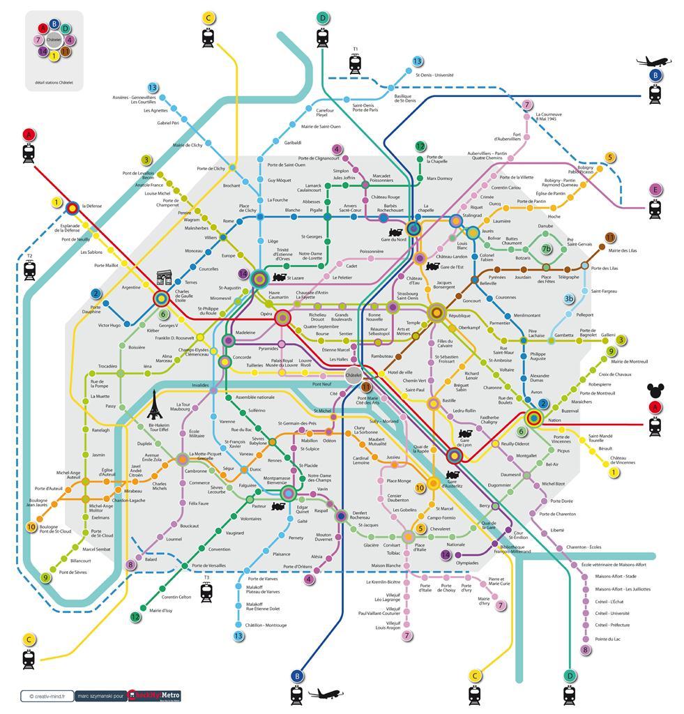 Plan metro paris defense subway application - Plan du peripherique parisien les portes ...