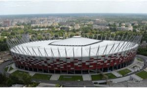 Le Stade national de Varsovie accueille cinq matchs de l'Euro 2012.