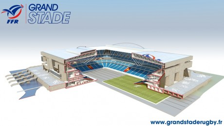 Grand Stade de la FFR Image axonometrique eclate 460x258 La FFR choisit Populous et Ateliers 2/3/4/ pour la conception de son Grand Stade