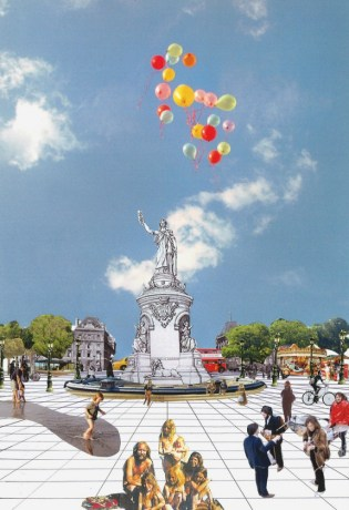 Collage Place de la République par TVK et Julien Jacquot 315x460 Clip of Friday : collage pour la place de la République