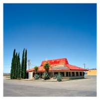 Pizza Hut (abandoned), Route 70. Alamogordo, New Mexico, USA.