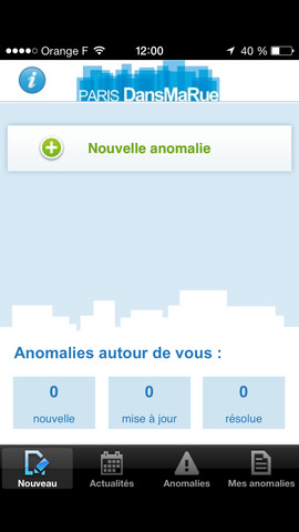 """DansMaRue"" - Ville de Paris - Application iPhone"