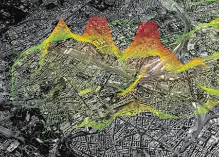 Cartographie de l'activité cellulaire lors du Real Time Rome (crédits : DR)