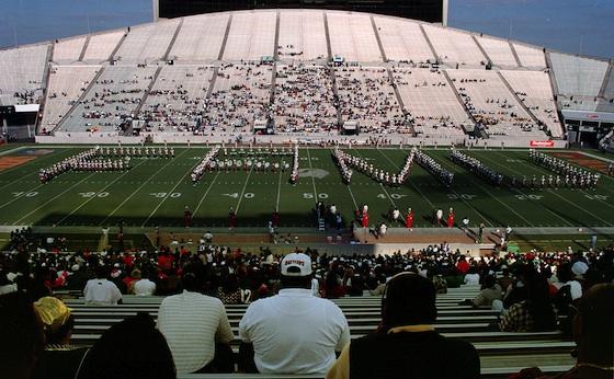 FAMU Marching 100 at Tampa Stadium