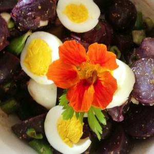 Fresh garden potato salad