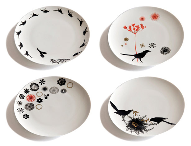 Also from nature-inspired images Milner creates these beautiful plates. I love the birds.  sc 1 st  Urban Gardens & Nature-inspired Ceramic Tiles Plates and Vases - Urban Gardens