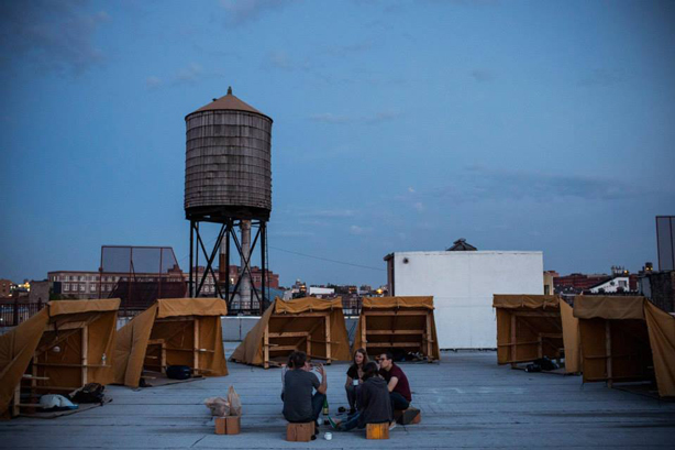 bivouac-tents-nyc-rooftop-sunset