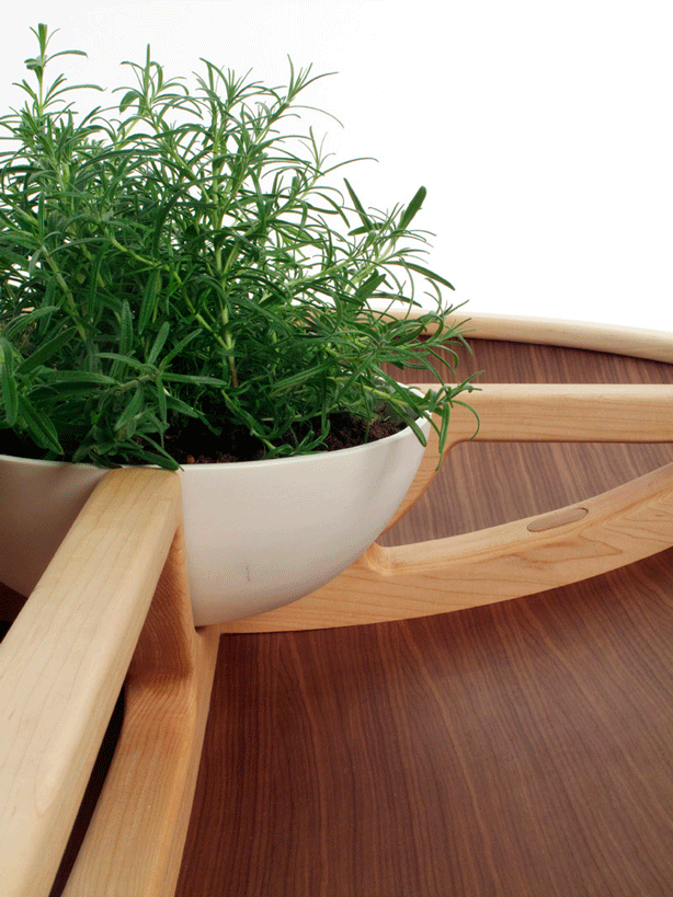 planted furniture table planter