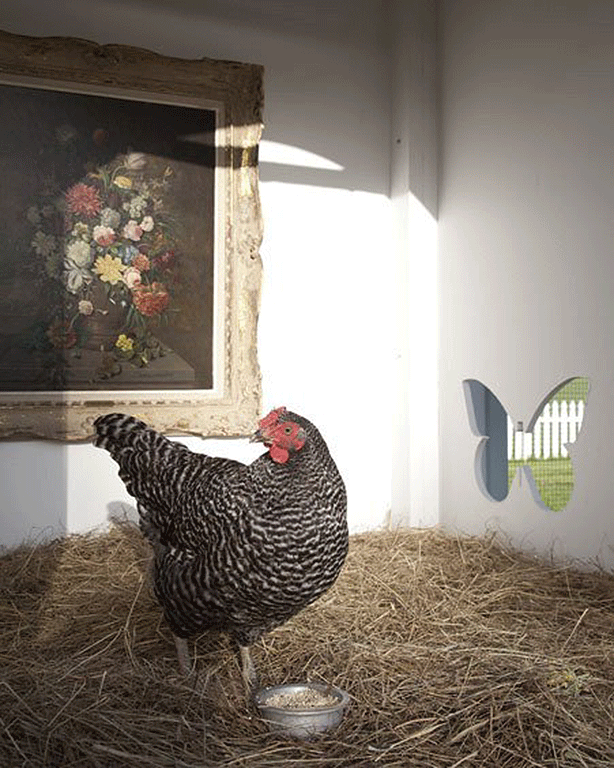 neiman-marcus-coop-chicken-with-painting