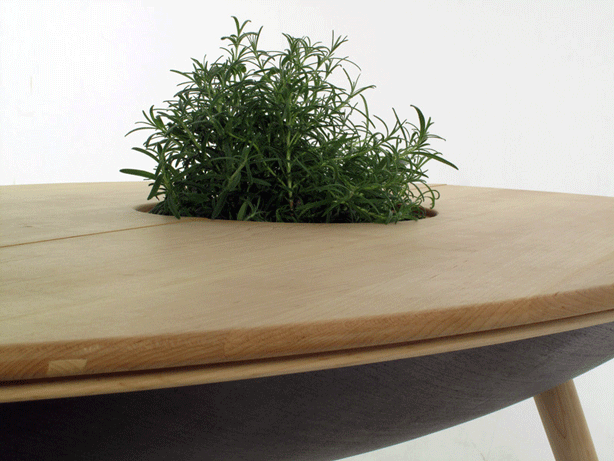 planted furniture with table planter