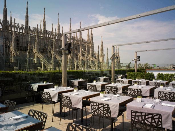 La-Rinascente-terrace-garden-restaurant-overlooking-duomo-milan