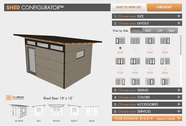 studioshed-configurator-window