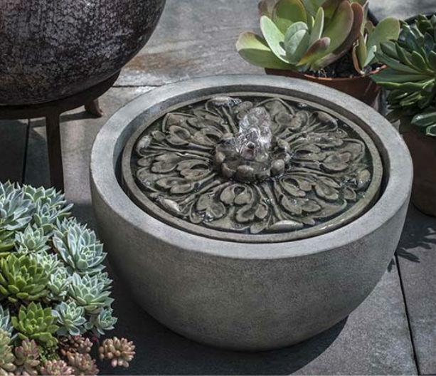 Medallion Garden Water Fountain