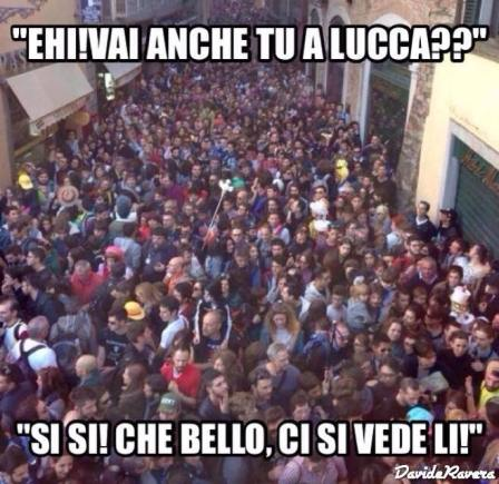 Folla a Lucca