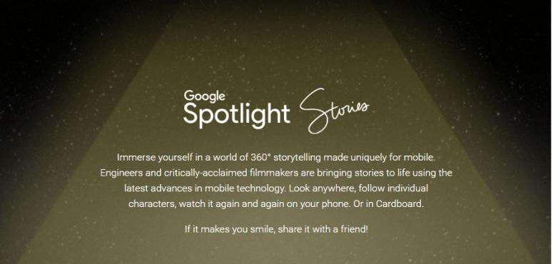 Google Spotlight Stories 360° URBe