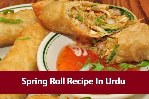 Spring Roll Recipe In Urdu - Urdu Cookbook